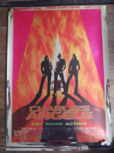Charlies Angels, Orig Movie Poster, Cameron Diaz, Lucy Liu, Drew Barrymore, '00